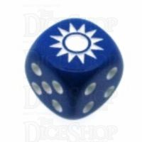 Chessex Opaque Blue WWII China Logo D6 Spot Dice