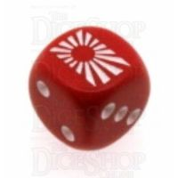 Chessex Opaque Red WWII Japan Logo D6 Spot Dice