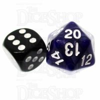 TDSO Pearl Purple & White 22mm D20 Countdown Dice
