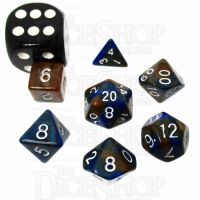 TDSO Duel Blue & Gold MINI 10mm 7 Dice Polyset