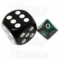 TDSO Duel Brown & Green MINI 10mm D10 Dice