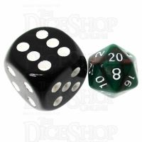 TDSO Duel Brown & Green MINI 10mm D20 Dice