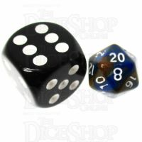 TDSO Duel Blue & Gold MINI 10mm D20 Dice