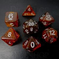 TDSO Shadow Amber 7 Dice Polyset FABULOUS FIFTY