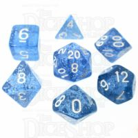 TDSO Glitter Blue 7 Dice Polyset