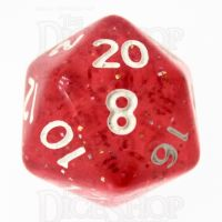 TDSO Glitter Red D20 Dice