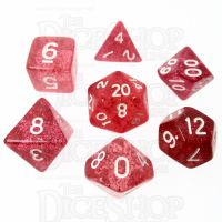 TDSO Glitter Red 7 Dice Polyset