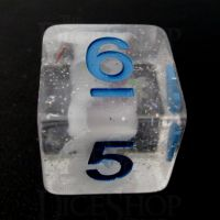 TDSO Metallic Flakes Winter Storm D6 Dice