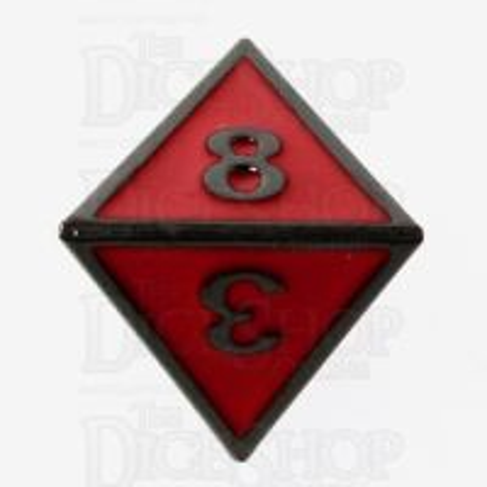 TDSO Metal Fire Forge Black Nickel & Red Enamel D8 Dice