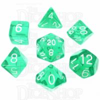 Role 4 Initiative Translucent Teal & White 7 Dice Polyset