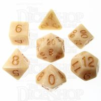 Role 4 Initiative Marble Latte 7 Dice Polyset