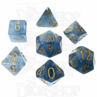 Role 4 Initiative Jade Blue Jade Shoes 7 Dice Polyset