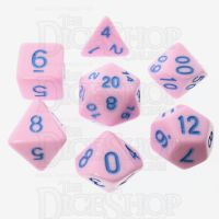 TDSO Pastel Opaque Pink & Blue 7 Dice Polyset