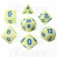 TDSO Pastel Opaque Yellow & Blue 7 Dice Polyset