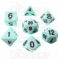 TDSO Pastel Opaque Mint & Purple 7 Dice Polyset