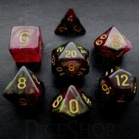 TDSO Midnight Rose 7 Dice Polyset FABULOUS FIFTY