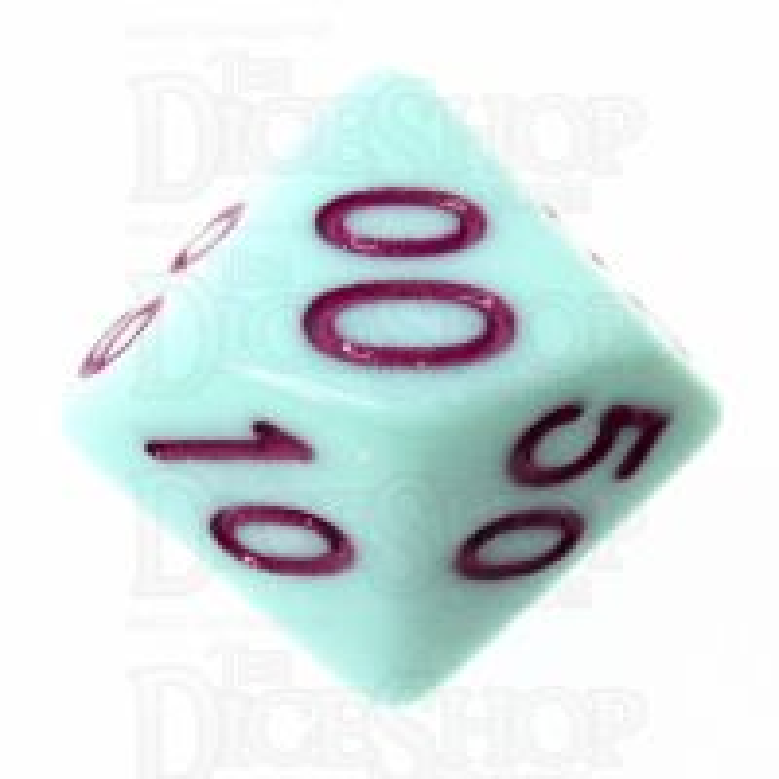 TDSO Pastel Opaque Mint & Purple Percentile Dice