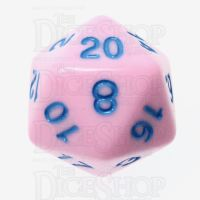 TDSO Pastel Opaque Pink & Blue D20 Dice