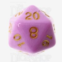 TDSO Pastel Opaque Pink & Gold D20 Dice