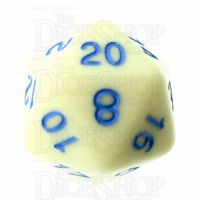 TDSO Pastel Opaque Yellow & Blue D20 Dice