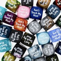 Chessex Don't Touch My Dice! Logo Assorted 6 x D6 Spot Dice Set