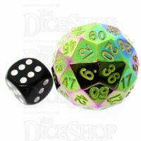 TDSO Metal Iridescent Rainbow 35mm D60 Dice