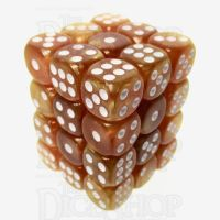TDSO Pearl Golden & White 36 x D6 Dice Set