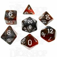 TDSO Amber Shard 7 Dice Polyset FABULOUS FIFTY