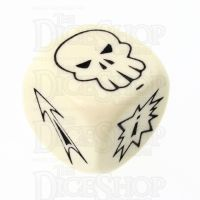 CLEARANCE D&G Opaque Ivory Block D6 Dice
