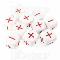 CLEARANCE D&G Opaque White 14mm + - D6 Dice x 10