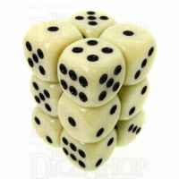 CLEARANCE TDSO Opaque Ivory 12 x D6 Dice Set