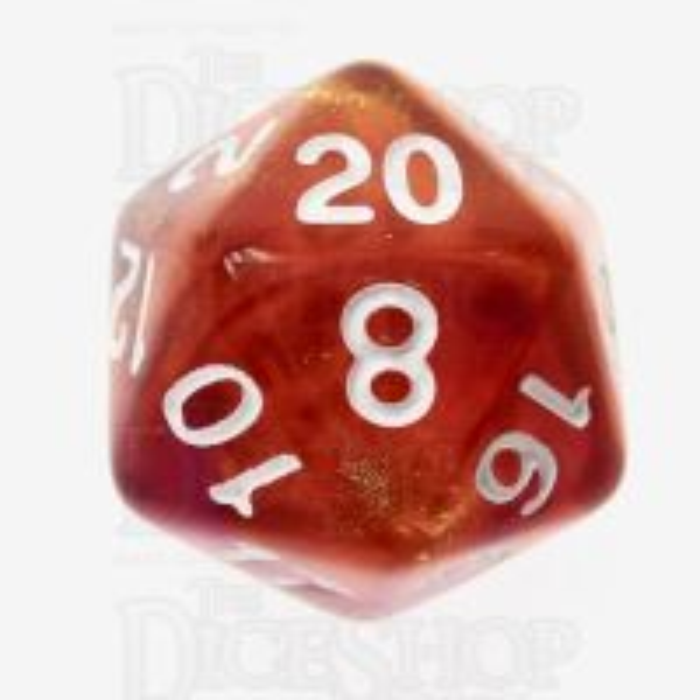 TDSO Photo Reactive Orange & Purple 16mm D20 Dice
