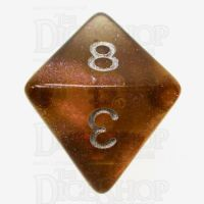 TDSO Photo Reactive Grey & Orange  D8 Dice