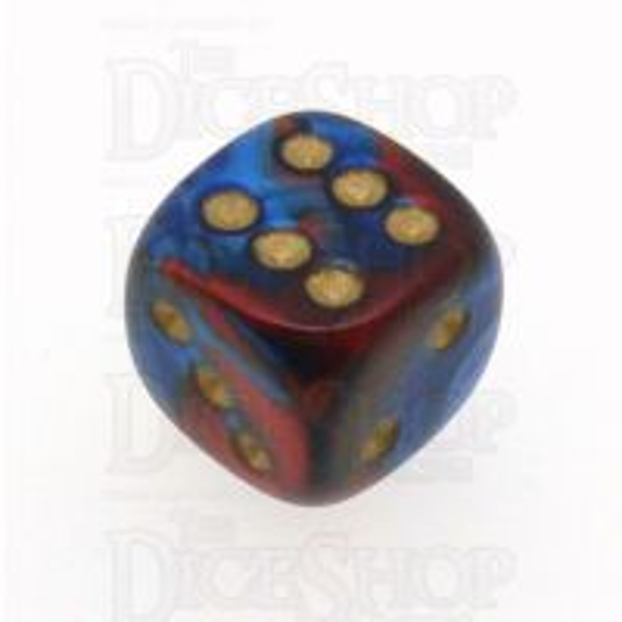Chessex Gemini Blue & Red 16mm D6 Spot Dice