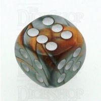 Chessex Gemini Copper & Steel 16mm D6 Spot Dice