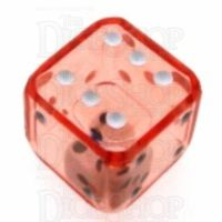 Koplow Red Double 19mm D6 Spot Dice