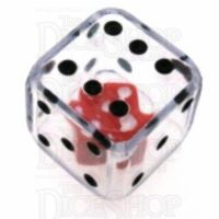 Koplow Clear Double 19mm D6 Spot Dice