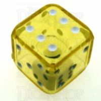 Koplow Yellow Double 19mm D6 Spot Dice