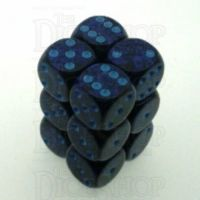 Chessex Speckled Cobalt 12 x D6 Dice Set