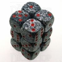 Chessex Speckled Granite 12 x D6 Dice Set