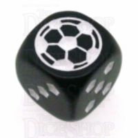 Koplow Black Football Soccer Logo 18mm D6 Spot Dice