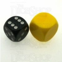 D&G Opaque Blank Yellow 18mm D6 Dice