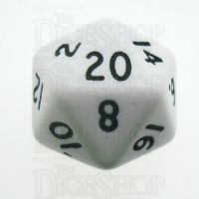 D&G Opaque White D20 Dice