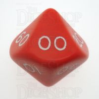 D&G Opaque Red Percentile Dice