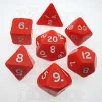 D&G Opaque Red 7 Dice Polyset