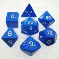 D&G Opaque Blue 7 Dice Polyset