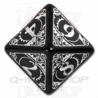 Q Workshop Steampunk Black & White D8 Dice