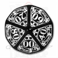 Q Workshop Steampunk Black & White Percentile Dice