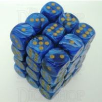 Chessex Vortex Blue 36 x D6 Dice Set