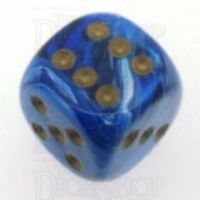 Chessex Vortex Blue 16mm D6 Spot Dice